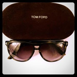 Authentic Tom Ford Lennon Acetate Oval Sunglasses